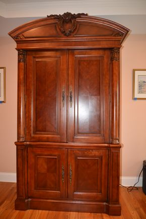 Lot 020 3 Drawer TV-Armoire 86H x 46W x 22L aprox. PICK UP IN MALVERNE,NY