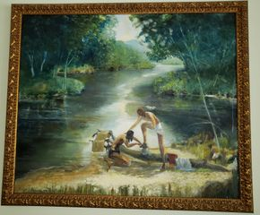 Lot 021 PU-PAY AT TAG SALE Painting Signed Ralph G. Prince 2010 29.375H x35.5W PICK UP IN WEST ISLIP, NY