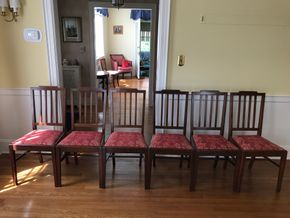 Lot 071 Lot of 6 Dining Room Chairs AS IS 37Hx16Wx18L