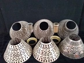 Lot 011 6 Silver Plated Shades