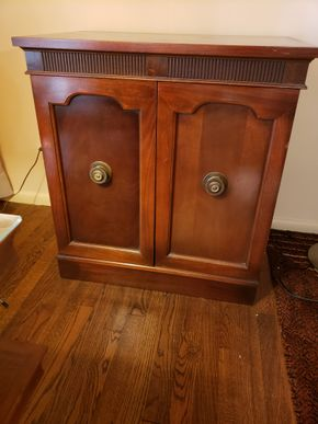 Lot 036 PU/Vintage 2 Door/2 Shelf Sheet Music Cabinet 30H x 27.5W x 18D  PICK UP IN GREAT NECK, NY