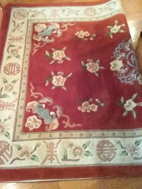 Lot 019 5.8 x 8.3 Custom Wool Rug PICK UP IN GARDEN CITY