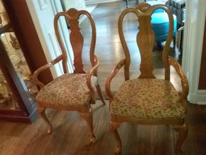 Lot 092 Pair Of Bernhardt Arm Chairs 41H x 18w x 22l PICK UP IN GARDEN CITY