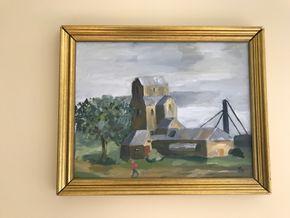 Lot 054 Framed Signed Oil On Canvas Frame Broken 17 X 21 PICK UP IN LAWRENCE