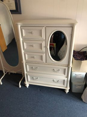 Lot 024 White 5 Drawer Dresser/Armoire ITEMS MUST BE PICKED UP IN LONG BEACH