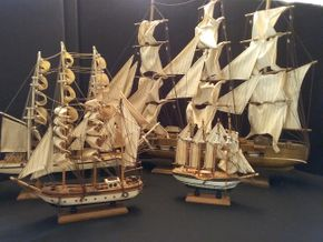 Lot 012 Lot of 4 Decorative Sailboats PICK UP IN BELLE HARBOR