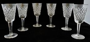 Lot 026 Lot of 6 Waterford Sherry Glasses Alana Pattern  5.125H x 2.125W PICK UP IN CARLE PLACE,NY