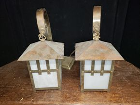 Lot 029 Lot of 2 Metal Hanging Lamps AS IS PICK UP IN MINEOLA,NY