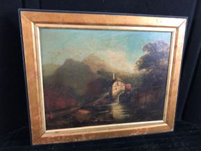 Lot 163 Continental School Oil Painting - unsigned
