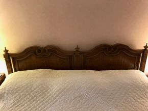 Lot 025 King Size Headboard by Heritage 40 Inches Tall PICK UP IN MANHASSET