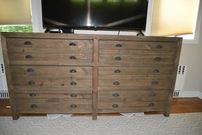 Lot 027 Restoration Hardware 6Drawer Dresser 36H x 69W x 18.5D PICK UP IN PORT WASHINGTON,NY