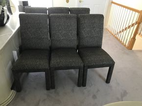 Lot 039 Lot Of Six Dining Room Chairs. 38H X 20W X 19.5L. PICK UP IN LAKE GROVE.