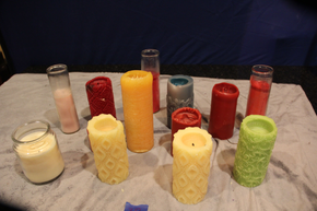Lot 038 Lot of a collection of unused candles ITEMS CAN BE PICKED  UP IN WESTBURY