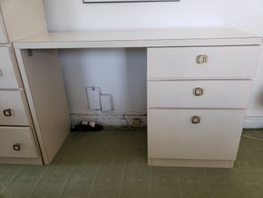 Lot 012 Laminate 3 Drawer Desk 30H x 45.5H x 16.5D  IN GREAT NECK,NY