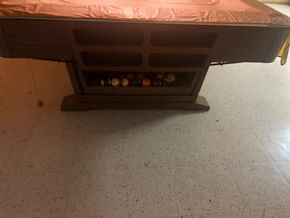 Lot 048 Brunswick Pool Table With Accessories In Excellent Condition PICK UP IN MANHASSET