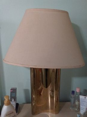 Lot 017 Pair of Brass Lamps 28 inches tall PICK UP IN HOWARD BEACH