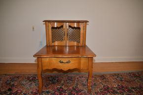 Lot 018 Wood Night Table 26H x 21W x 28L PICK UP IN CATHEDRAL GARDENS HEMPSTEAD NY