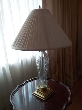 Lot 006 Waterford Table Lamp 32 Inches tall PICK UP IN GLEN COVE