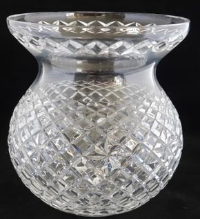 Lot 011 PU/Vintage Waterford Master Cutter Corset Bouquet Flower Vase 9H PICK UP IN CARLE PLACE,NY