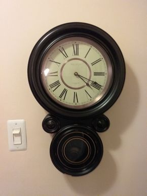 Lot 015 Chime Clock small chip Smith and Ives LTD 22 inches tall PICK UP IN HOWARD BEACH