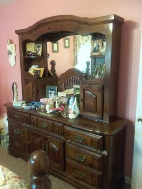 Lot 083 Pine Dresser With Removable Hutch 78H x 18W x 73L PICK UP IN WEST HEMPSTEAD