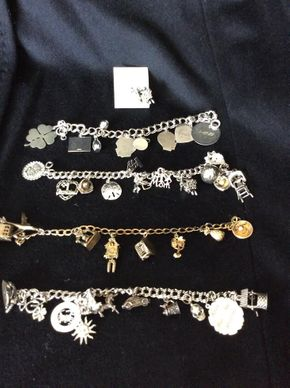 Lot 007 Lot Of 4 Sterling Silver Charm Bracelets PICK UP IN WEST HEMPSTEAD