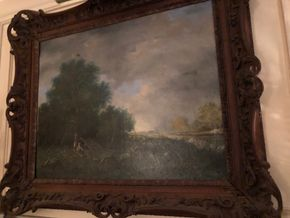 Lot 120 Oil on Canvas by RD Astafor Landscape Some Restoration 25Hx31W