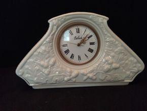 Lot 088 Belleek Mantle Clock PICK UP IN ROCKVILLE CENTRE