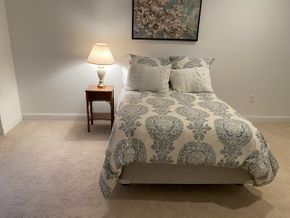 Lot 023 Full size headboard mattress and bedding 54 IN L X 37 IN H PICK UP IN HUNTINGTON