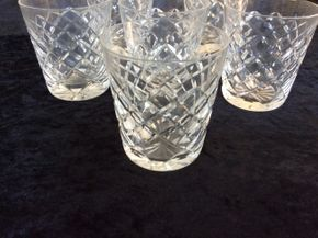 Lot 026 Lot Of 6 Waterford Highball Glasses 3.5 Inches Tall PICK UP IN CENTERPORT