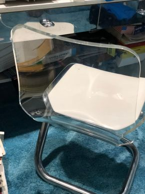 Lot 023 Lucite Desk Chair 17W x 35L