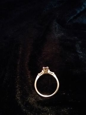 Lot 009 14K White Gold Engagement Setting With No Stone PICK UP IN WEST HEMPSTEAD