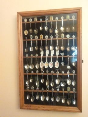 Lot 072 Lot Of Collector Spoons With Display Case PICK UP IN WEST HEMPSTEAD