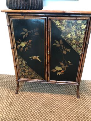 Lot 007 PU/DEL  Accented w/Asian decorative elements on all panels 39H x 31W x14DPICK UP IN PECONIC/RIVERHEAD