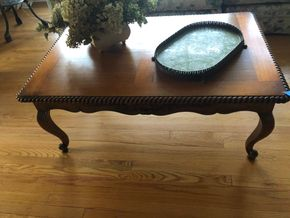 Lot 021 Leave Wooden Coffee Table PICK UP IN PORT WASHINGTON