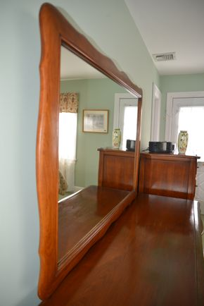 Lot 034  Wood Mirror 36H x 1W x 50L PICK UP IN ROCKVILLE CENTRE