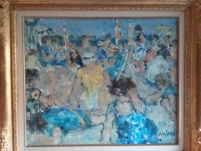 Lot 031 Signed Pierre Anfosso Oil On Canvas PICK UP IN MANHASSET