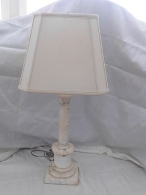 Lot 012 Marble Base Lamp 27H x5.5W PICK UP IN CENTERPORT