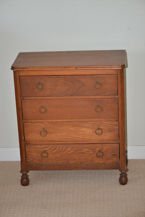 Lot 032 3 Drawer Wood Dresser 22.875H x 19.5W x 9.5L PICK UP IN GLEN COVE, NY