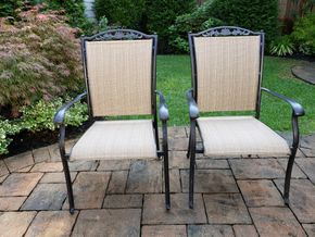 Lot 024 Pd and Picked Up Lot of 2 Outdoor Armchairs H40 x 19.5W x 21D PICK UP IN ROCKVILLE CENTRE, NY