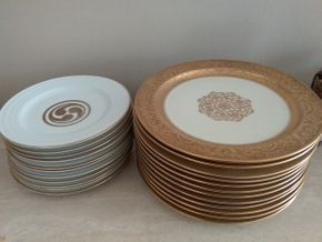 Lot 057 Lot Of 12 Royal Art Guild and 11 Consort Porcelain China Plates PICK UP IN MANHASSET