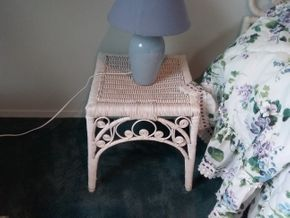 Lot 113 Wicker Side Table 16x 14x 14 PICK UP IN OLD BROOKVILLE
