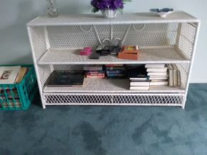 Lot 114 Wicker Shelves 29Hx 14.5W x 29L PICK UP IN OLD BROOKVILLE
