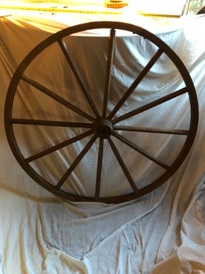 Lot 012 Wooden Wagon Wheel 42D