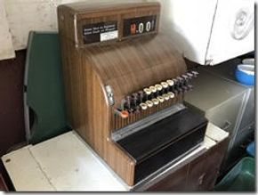 Lot 026 Vintage Cash Register Locked With No Key PICK UP IN WESTBURY