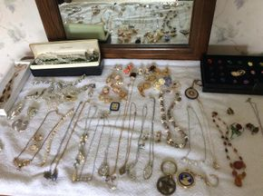 Lot 010 Large Lot Of Vintage Costume Jewelry PICK UP IN WEST HEMPSTEAD