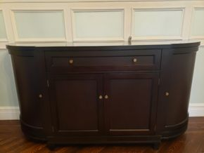 Lot 002 Crate and Barrel Sideboard Buffet Storage Cabinet 35H x 69.5W x 20.75D PICK UP IN GARDEN CITY, NY