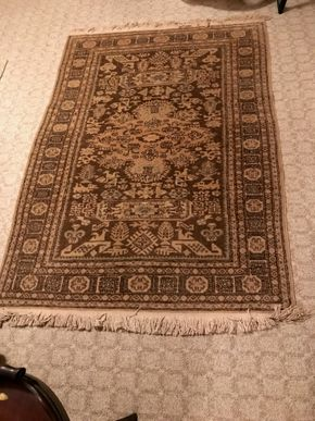 Lot 021 Hand Made Rug 3x5 PICK UP IN MANHASSET
