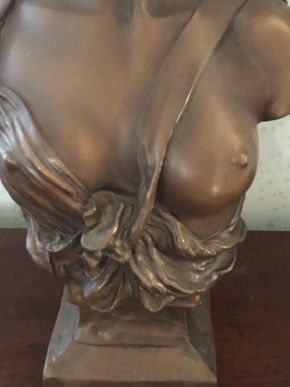 Lot 001 PU Classic Bronze Bust of a Woman 16H x 4W PICK UP IN RVC