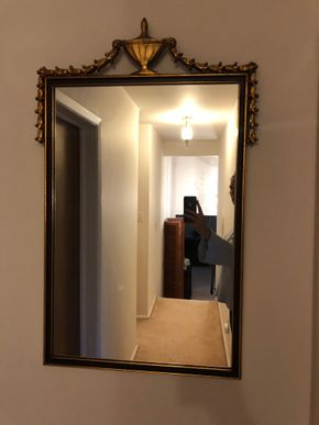 Lot 028 Decorative Mirror 34L x 21W  PICK UP IN RVC